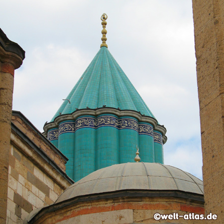 Mevlana Museum and Mausoleum in Konya, Green Mausoleum
