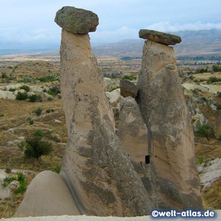 Fairy chimneys in Cappadocia near Ürgüp