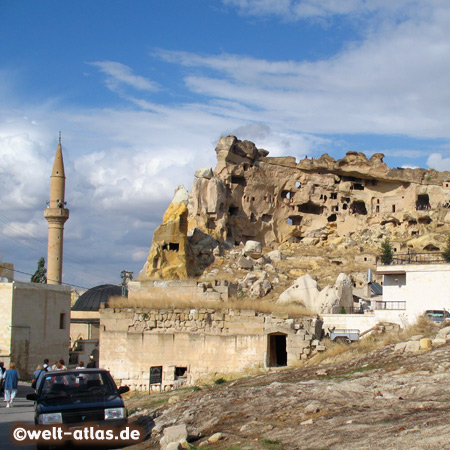 Minaret of Cavusin, old settlement in Cappadocia