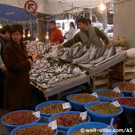 Markt in Üsküdar / Istanbul