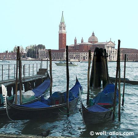 Venice, gondolas, San Giorgio Maggiore