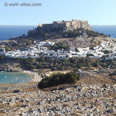 Akropolis of Lindos, Rhodos, Greece