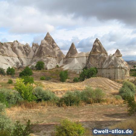 Felsformationen aus Tuffstein