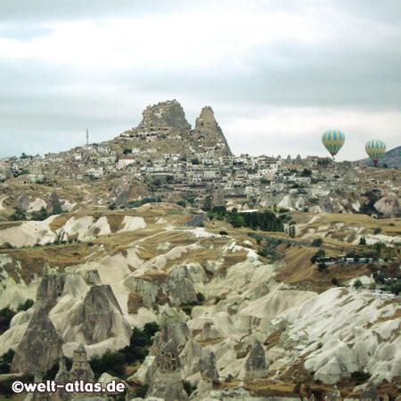 Ballonfahrt,  Blick auf Uçhisar