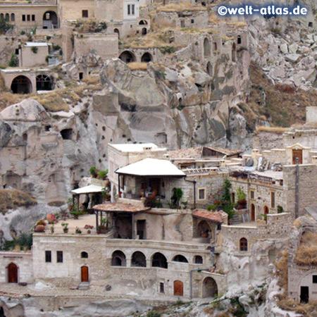 Kappadokien, Terrasse in Ortahisar