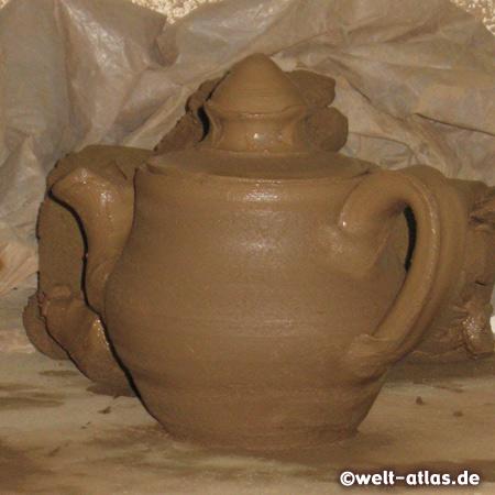 Teekanne aus der Töpferei in Avanos