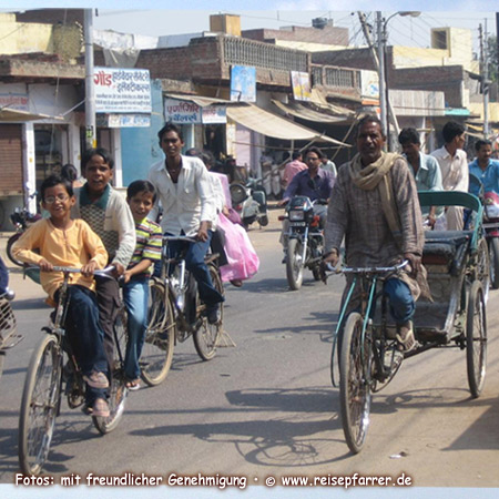 Rush hour at Jaipur, capital of Rajasthan state, IndiaFoto:© www.reisepfarrer.de