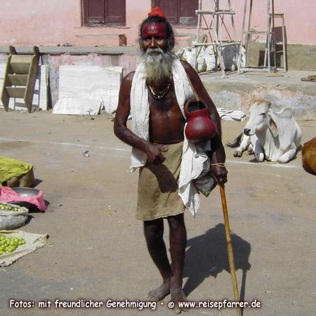 Sadu in Pushkar, Rajasthan, IndienFoto:© www.reisepfarrer.de