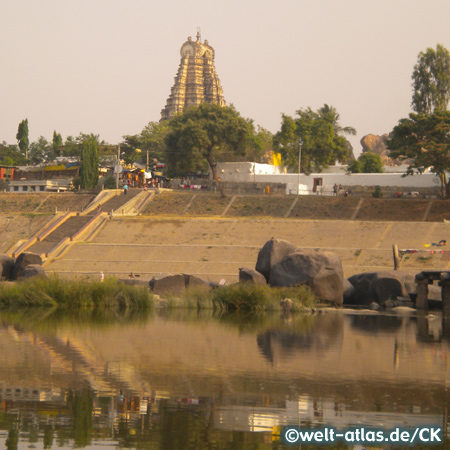 Virupaksha Tempel am Tungabhadra River, Haupttempel in Hampi