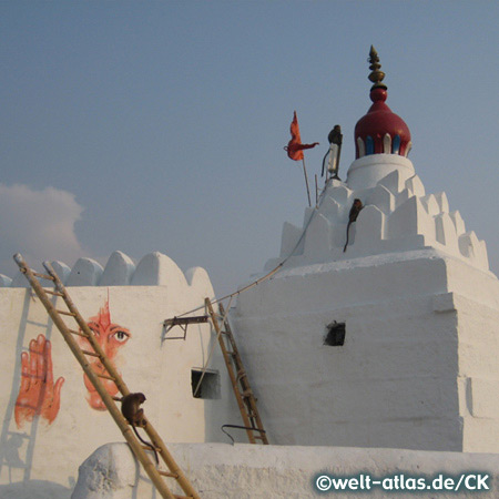 Hanuman Temple, Monkey Temple on Anjanaya Hill, Hampi, India