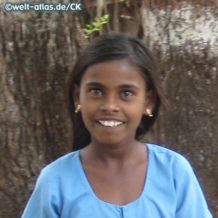 Girl in the province of Karnataka