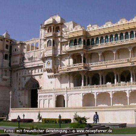 Stadtpalast von Udaipur, Rajasthan.Foto:© www.reisepfarrer.de