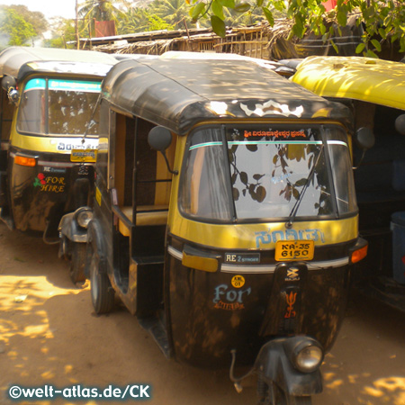 Auto-Rikscha, Dreiradtaxi in Indien