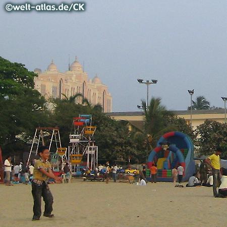 Mumbai (Bombay), beliebter Strand - Chowpatty Beach