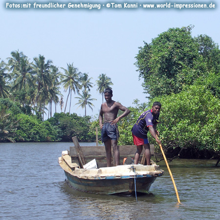 Transport per Boot, Sri Lanka