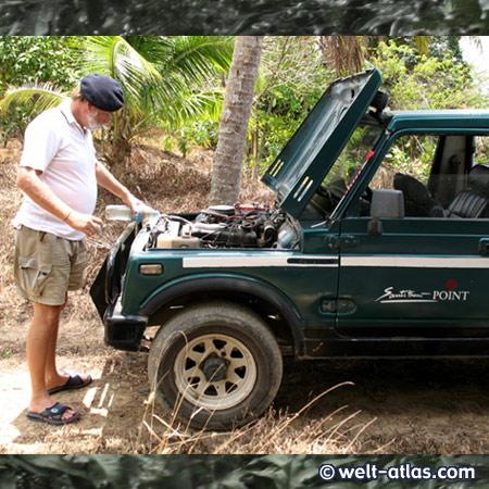 """mit dem Jeep vom """"Santi Thani"""" durch die Berge, http://www.kohsamui.20m.com/"""