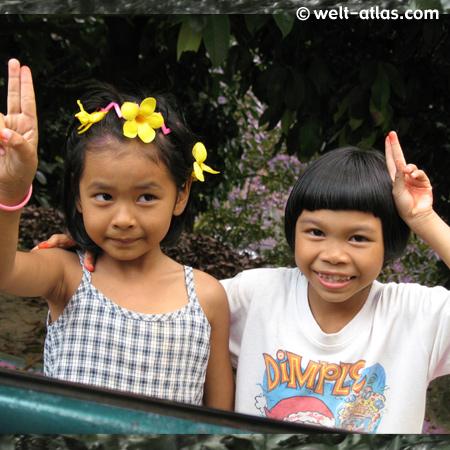 Begegnung unterwegs auf Koh Samui, Thailand