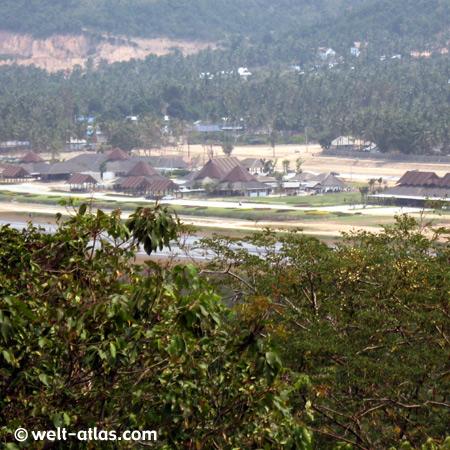 Blick auf den Flughafen, Koh Samui, Thailand