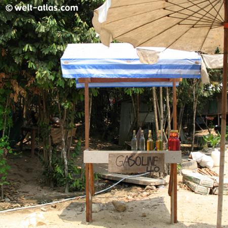 Tankstelle auf Koh Samui, Thailand