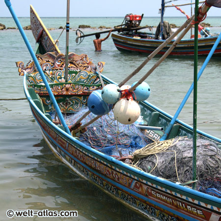 Fischerdorf Hua Thanon, Boote, Koh Samui, Thailand