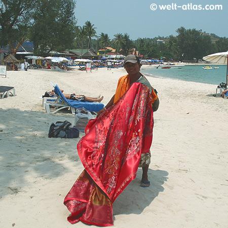 Strand Choeng Mon, Strandverkäufer, Koh Samui, Thailand
