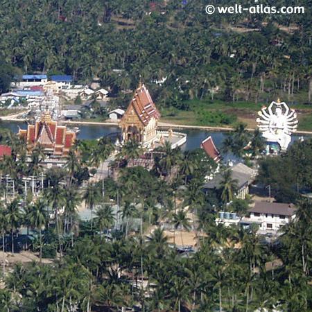 Wat Plai Laem bei der Landung auf Koh Samui