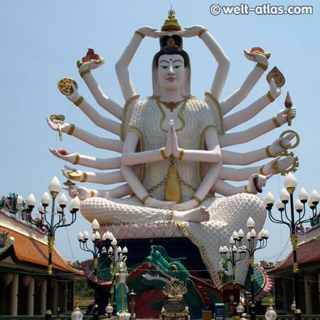 Wat Plai Laem, 18-armiger Buddha, Koh Samui, Thailand