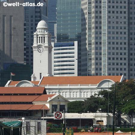 Singapur, Uhrturm,Wahrzeichen der ehemaligen Kolonie