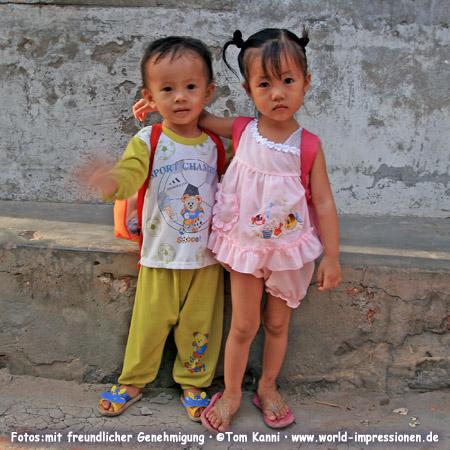 Two little children, Mui Ne, Vietnam