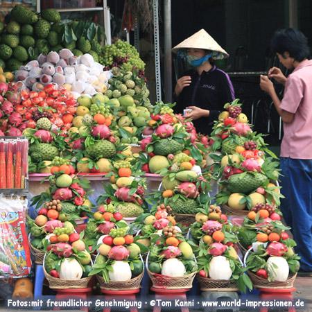 A Fruit Market in Vietnam