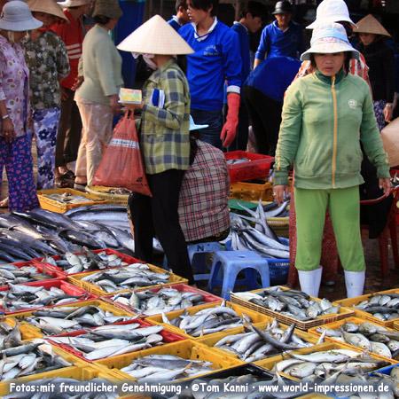 Fish market at Phan Thiet