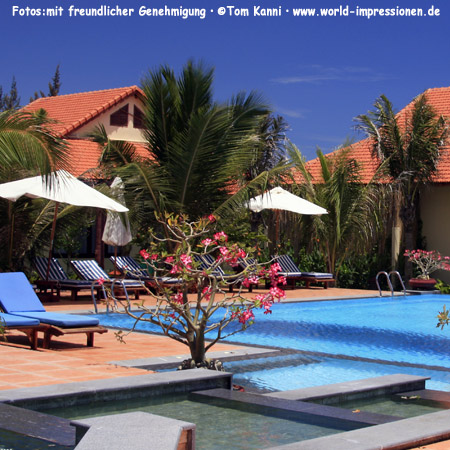 Pool side at Sunny Beach Resort, Phan Thiet, Vietnam