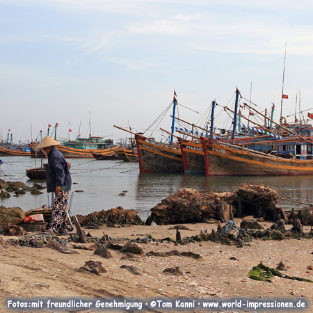 Fishing boats at Mui Ne