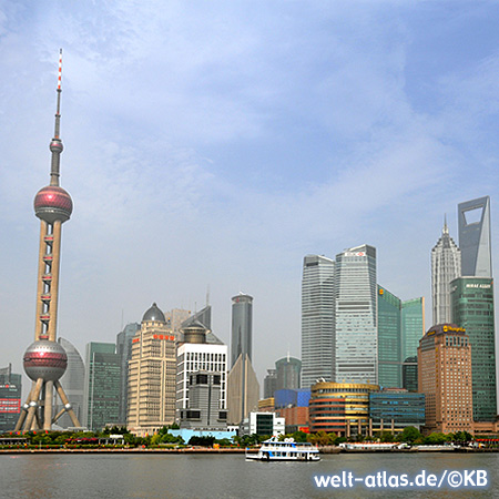 Blick vom Bund hinüber nach Pudong, Shanghai