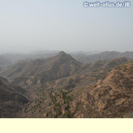 Landschaft an der Chinesischen Mauer
