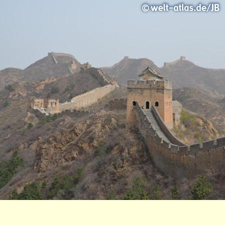 Jinshanling Great Wall, restored part of the wall