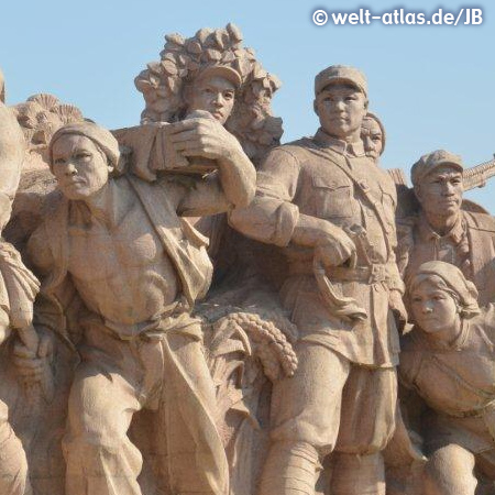 Denkmal auf dem Tiananmen-Platz in China, Peking