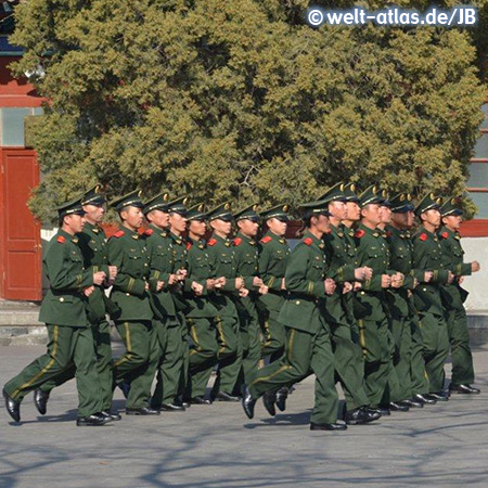 Chinese Guards near Forbidden City