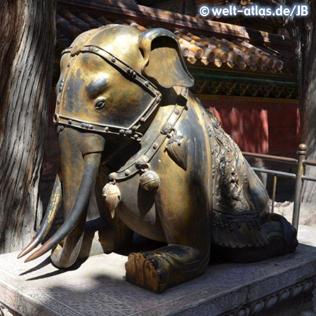 Elephant statue at the Imperial Garden, Forbidden City, Beijing, China