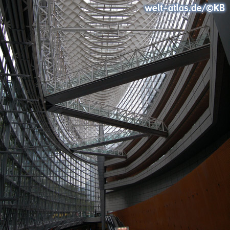 Futuristic construction of the multi-purpose complex Tokyo International Forum