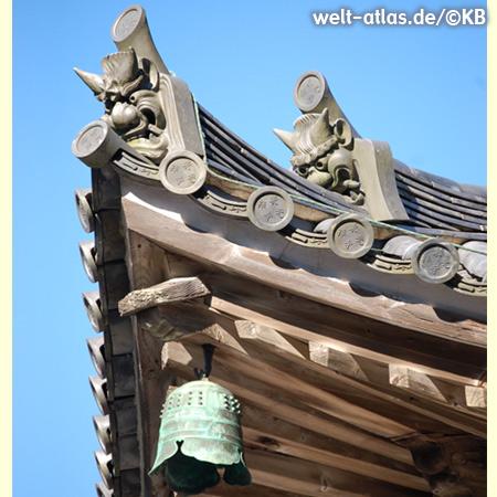 Detail am Dach des Kiyomizu-dera, buddhistischer Tempel in Kyoto