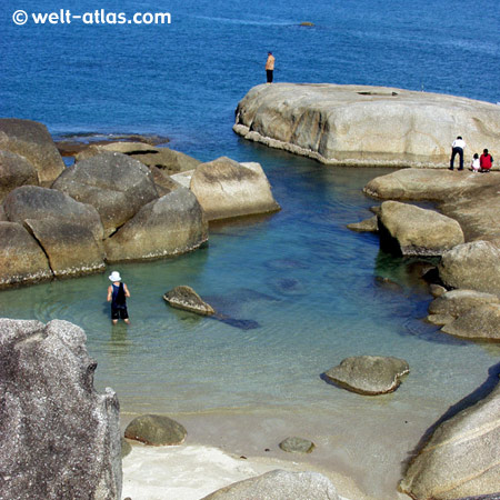 Strand bei Hin Ta - Hin Yai, Thailand, Koh Samui