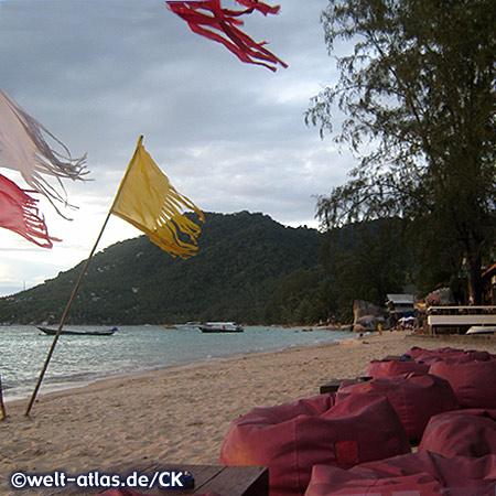 Sairee Beach auf der Insel Koh Tao, nahe Koh Phangan, Thailand