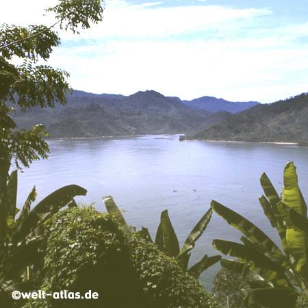 crater lake Maninjau in West Sumatra