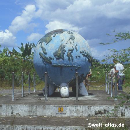 Am Äquator auf Sumatra, nördlich von Padang