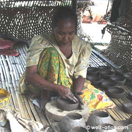 Woman in the pottery,pottery, arts and crafts