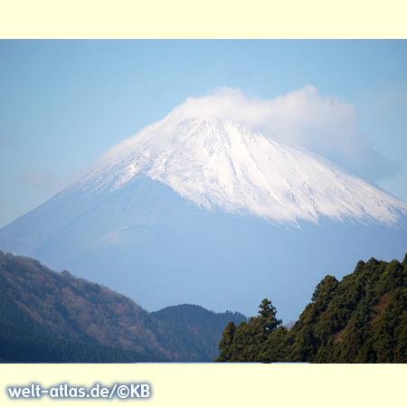 Der Mount Fuji, heiliger Berg und der höchste in Japan, 3776,24 m