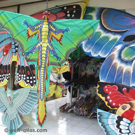 Colorfull kites, handy crafts of Bali