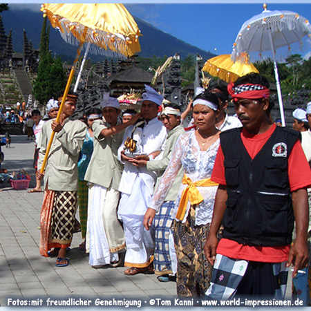 People at religious ceremony, Pura Besakih Temple, Bali