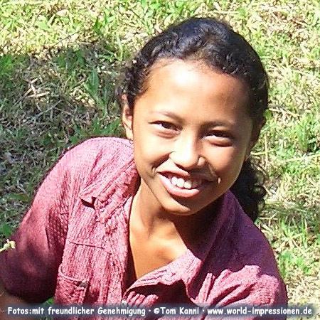 Junge Frau auf Bali